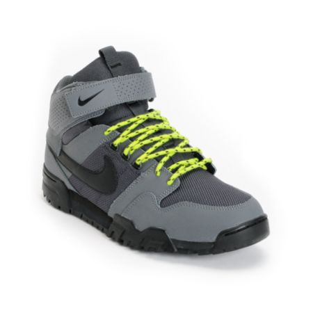 Nike Mogan Mid 2 OMS Dark Grey & Atomic Green Shoe