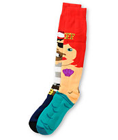 Neff High Seas Red Snowboard Socks