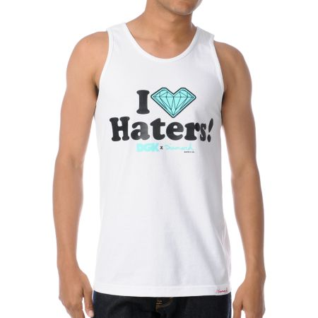 DGK x Diamond I Love Haters White Tank Top