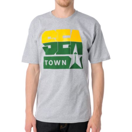 Casual Industrees Sea Town 2 Heather Grey Tee Shirt