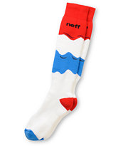 Neff Melty Red & Blue Snowboard Socks