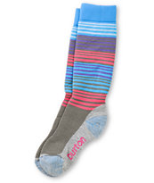 Burton Scout Girls Cyan, Pink & Purple Snowboard Socks
