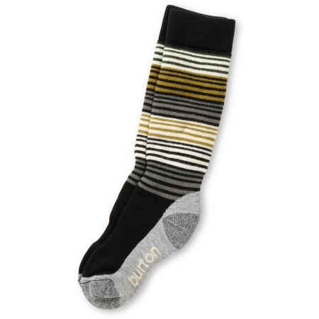 Burton Scout Girls Black, Gold & Grey Snowboard Socks