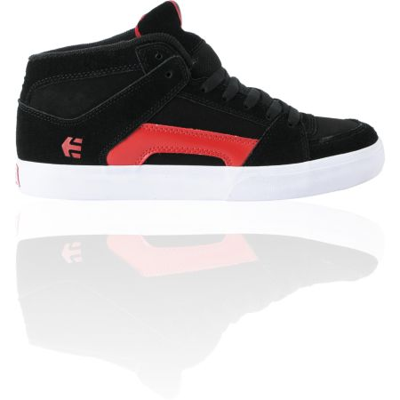Etnies Boys RVM Vulc Black & Red Skate Shoe