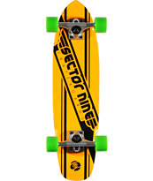 Sector 9 76 Neon Orange 28 Cruiser Complete