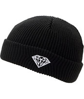 Diamond Supply Brilliant Black Fold Beanie