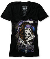 Sullen Girls Native Black V-Neck Tee Shirt
