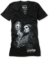Sullen Girls Live Fast Die Young Black V-Neck Tee Shirt