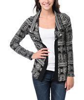 Lira Girls Grey & Brown Flash Cardigan Sweater