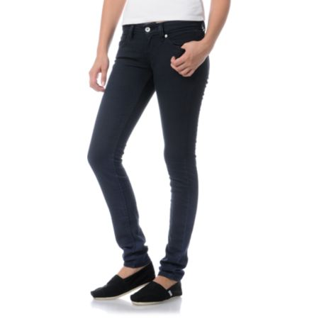 Levis Girls Faded Past Blue Ombre Low Twist Skinny Jeans