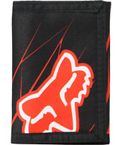 Fox Future Black & Red Tri-Fold Wallet