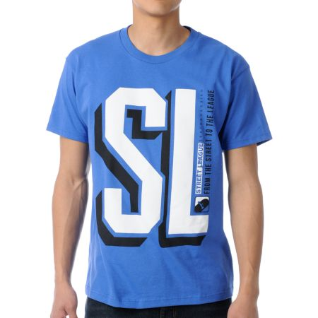 Street League College Blue Tee Shirt