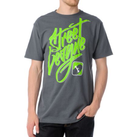 Street League Graffiti Charcoal Tee Shirt