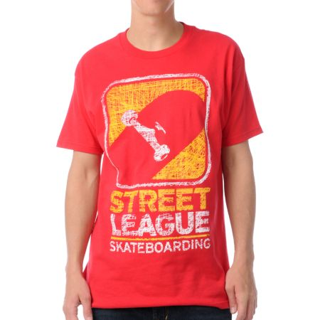 Street League Scribble Red Tee Shirt