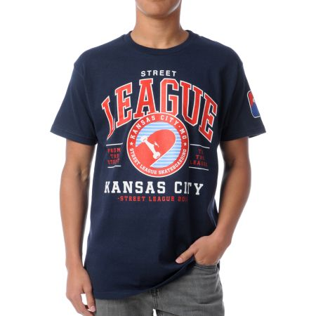 Street League Kansas City Navy Blue Tee Shirt