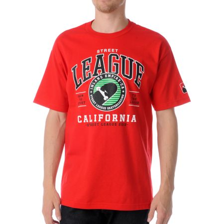 Street League CA Red Tee Shirt