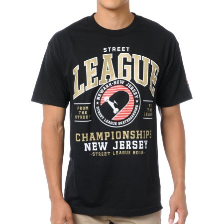 Street League NJ Black Tee Shirt