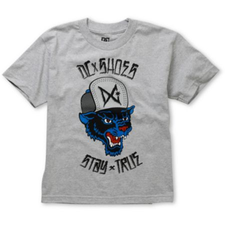 DC Boys Stay True Heather Grey Tee Shirt