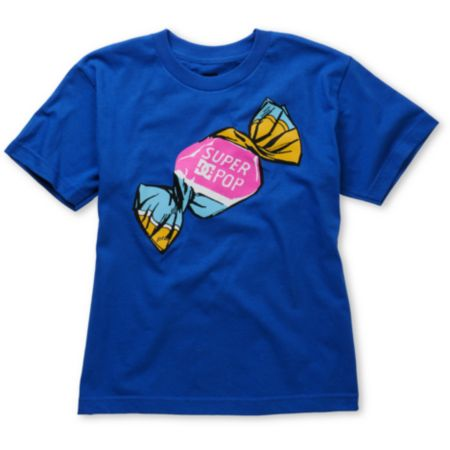 DC Boys Super Pop Blue Tee Shirt