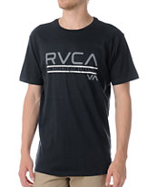 RVCA Distressed Black Tee Shirt