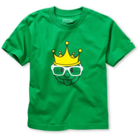 Trukfit Boys King Green Tee Shirt