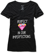 Ralik Girls Perfect Black V-Neck Tee Shirt