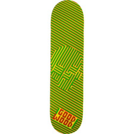 Goodwood Dizzy Skull Rasta 7.75 Skateboard Deck