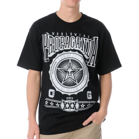 Obey Pro Bowl Black Tee Shirt