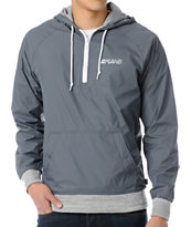 Plan B World Class Grey Pullover Windbreaker Jacket