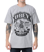 Obey Authentic Reaper Grey Tee Shirt