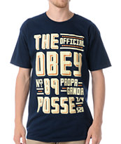 Obey Truckers Delight Blue Tee Shirt