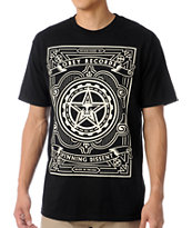 Obey Spinning Dissent Black Tee Shirt