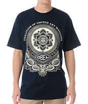 Obey United Art Workers Navy Tee Shirt