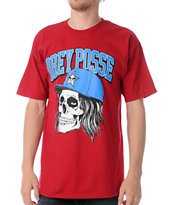Obey Snapback Skull Red Tee Shirt