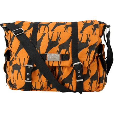 Volcom Girls Copy Kat Giraffe Print Workbag