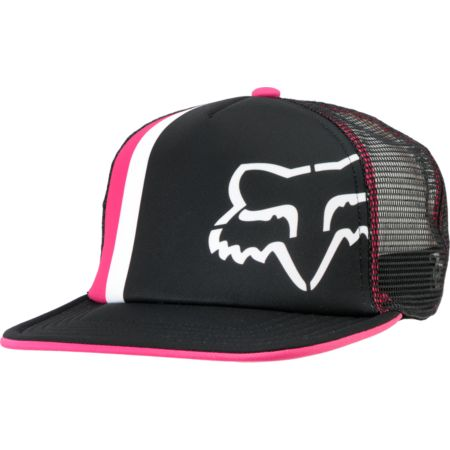 Fox Girls Prime Lap Black & Pink Trucker Hat