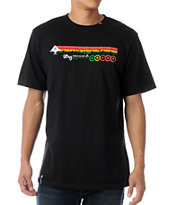 LRG Motherland Stripe Black Tee Shirt