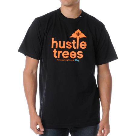 LRG CC Four Black & Orange Tee Shirt