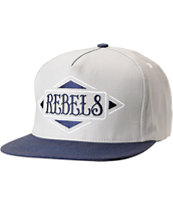 REBEL8 Always A Rebel Grey Snapback Hat