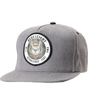 REBEL8 Owluminati Grey Snapback Hat