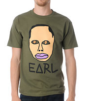 Odd Future Free Early Olive Green Tee Shirt