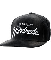 The Hundreds Team Black Corduroy Snapback Hat