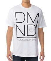 Diamond Supply DMND White & Black Tee Shirt