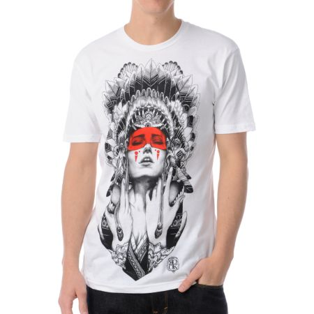 Rook Night Shade White Tee Shirt