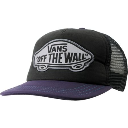 Vans Beach Girl Purple & Black Snapback Trucker Hat