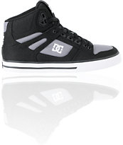 DC Spartan Hi WC TX Black & Grey Canvas Skate Shoe
