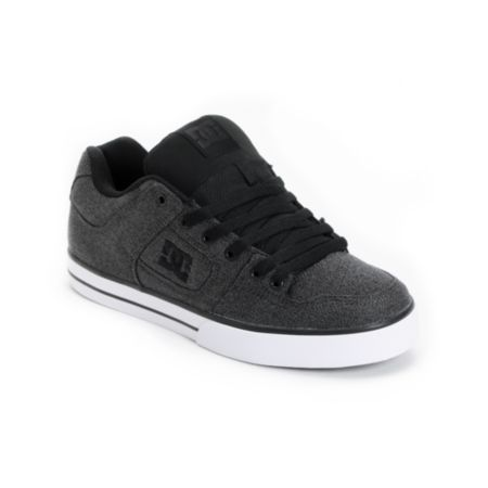 DC Shoes Pure Battleship Grey Skate Shoe
