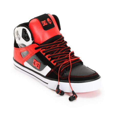 DC x Skullcandy Spartan Hi WC Black & Red Shoe