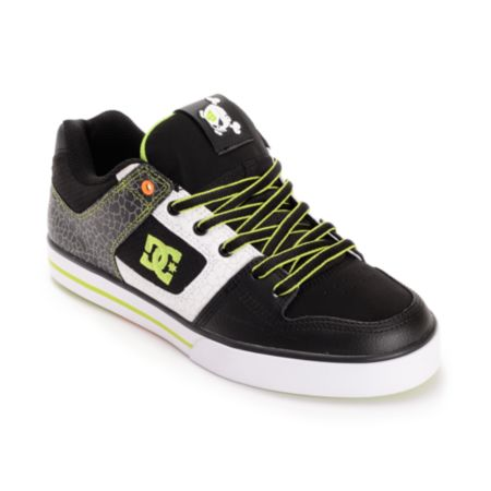 DC Ken Block Pure Black & Soft Lime Print Shoe