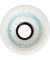 Mercer 70mm White 78a Longboard Wheels